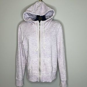 American Eagle light Purple space dyed exposed zipper hoodie Size Large